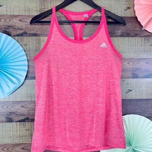 Adidas Climalite racer back Tank in lovely pink